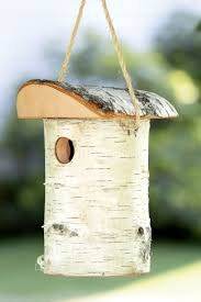 Sparrow Birdhouse Hole Size Chart Birch Bird House Birch Birdhouse Rustic Wood Bird House