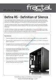 Fractal Design Define R5 Blackout Silent Msystems Ltd Manualzz Com