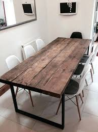 industrial dining table. Industrial Dining Table Reclaimed Chic 6 8 Bar Cafe Restaurant Furniture Steel Solid Wood Metal Made