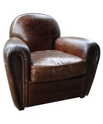 vintage leather club armchair cigare pomax