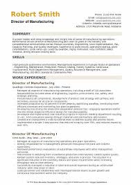 manufacturing resume sample director of manufacturing resume samples qwikresume