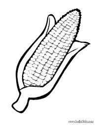 Corn Coloring Page Vegetable