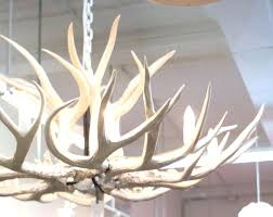 moose antler chandelier faux chandeliers grey with remodel 7