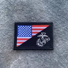 <b>NEW</b>! <b>USA</b>/USMC <b>Flag embroidered</b> – PatchOps