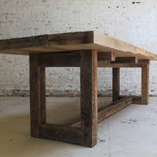 Reclaimed Wood Table by Van Jester Woodworks - Love the modern shapes with  rough hewn rustic