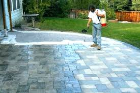 painting concrete patio staining stain photos gallery of fabulous ways to pavers can i spray paint image titled paint an outdoor concrete patio