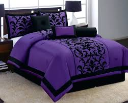 black california king comforter luxury cal sets 7 purple flocking set queen size new and grey