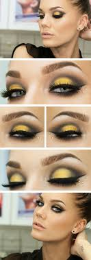 pastel yellow dress makeup