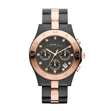marc by marc jacobs mbm3180 chronograph two tone black rose gold marc by marc jacobs mbm3180 chronograph two tone black rose gold womens watch