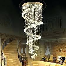 modern stairwell lighting. Stair Light Fixtures Staircase Hanging Lights Modern Led Spiral Lustre Crystal Ceiling Long For Hotel Foyer Living Room Stairwell Lighting L