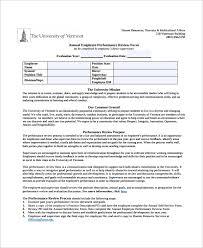 7 Employee Review Templates Pdf Doc