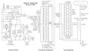 hal s first tesla coil schematic the capacitance becomes 0 027 uf there is a 10m ohm 1 2 watt resistor connected in parallel to each capacitor in the array