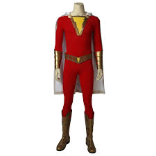 Shazam Stock Chart In Stock Dc Film Shazam Billy Batson Superhero Shazam Cosplay Costume
