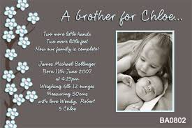 Sibling Birth Announcement Blue Blossom Sibling Boy Birth Announcement Cards Using Your Own