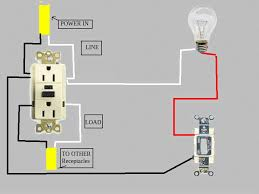 circuit diagram doityourself com community forums the important thing is the light switch and light must connect to the line side of the gfci all others to the load side of the gfci