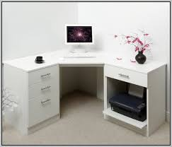 white office corner desk. White Corner Computer Desks For Home Brilliant Workstation Desk Charming Furniture Minimal Office D