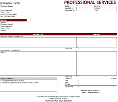 excel 2003 invoice template service invoice template free free professional services invoice