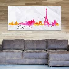 large wall art watercolor yellow and pink paris city skyline canvas print mygreatcanvas com extra large wall art wall art print large world map