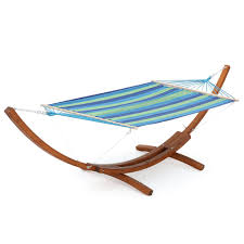 free standing hammock. Perfect Free Free Standing Fabric Hammock With Stand In Blue Green Stripe In E