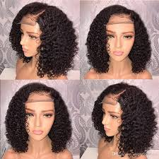 100 virgin brazilian human hair wigs curly deep wave women s hairpieces front lace 13 6 women s hairpiece natural black 130 density