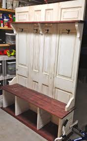 coat rack bench teak