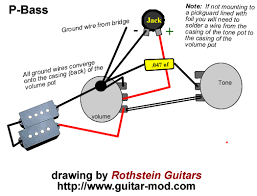rothstein guitars • serious tone for the serious player •standard precision bass wiring