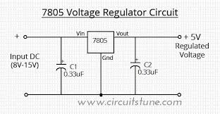 schematic the wiring diagram 7805 voltage regulator circuit circuitstune schematic