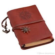 vine travel journal notebook traveler notebook leather kraft paper sketchbook diary blank note book 6 ring binder vine travel journal notebook leather