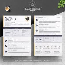 Modern Resume Color Professional Resume Template Icons Color Areas Colored