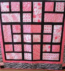 Best 25+ Pink quilts ideas on Pinterest | Bed designs latest ... & Color scheme against black. -- I think purple would be very striking as  well · Quilting ProjectsQuilting IdeasPatchwork ... Adamdwight.com