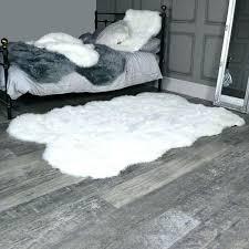 big faux fur rug large rugs grey four pelt white x flora furniture australia