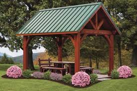 treated wood pavilion, alpine pavilion