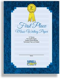 Music Writing Paper First Place 12 Stave Music Writing Paper