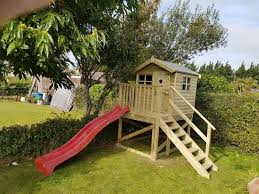 kids playhouse wooden tree house tree house with slide