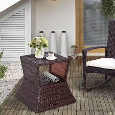 outsunny outdoor patio rattan wicker