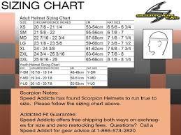 Azalea Size Chart Scorpion Exo C110 Azalea