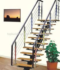 Modern straight single stringer steel staircase design