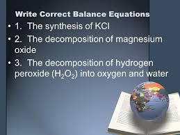36 write correct balance equations