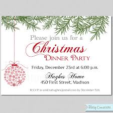 Free Dinner Invitation Templates Printable Impressive Christmas Page 48 Of 48 Free Printable Invites For Every Party