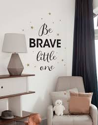 be brave little one e lettering wall decal