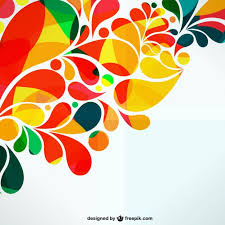 Colorful ornamental abstract design Free Vector