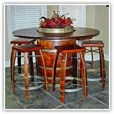wine cellar furniture. Wine Barrel Bistro Table Cellar Furniture