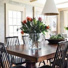 I Coastal Light Wood Floor And Beige Dining Room Photo In Boston With  Gray Walls