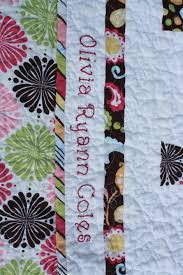 Adding a name and date to the baby quilt | Stitch Fancy & I'm ... Adamdwight.com