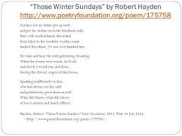"those winter sundays essay ap english literature and composition ""the third rate mind is only ""those winter sundays"