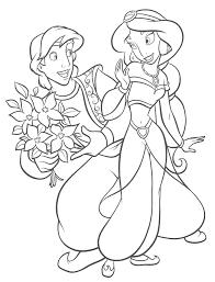 Coloriage Princesse Jasminell L