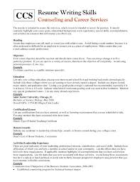 Resume Special Skills Resume Work Template