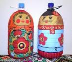 Матрешки из бутылки