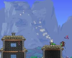 If you wire a Chimney proper smoke particles come out. : Terraria