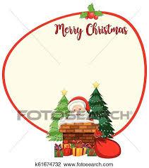 Santa Christmas Card Template Clipart K61674732 Fotosearch